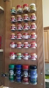 Kitchen Cabinet Door Organizer Aliexpress Com Buy Plastic Spice Gripper Wall Rack Storage