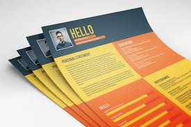 Best Free Resume Templates Flat Style Resume Template Freebie On Behance
