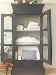 antique black linen cupboard 565 www livedandloved co uk