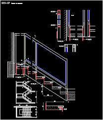 stair with glass hamdrail dwg block for autocad u2022 designs cad