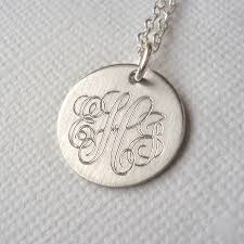 silver monogram necklace men s classic sterling silver monogram necklace by