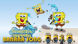 spongebob halloween background spongebob banana song minions parody cover youtube