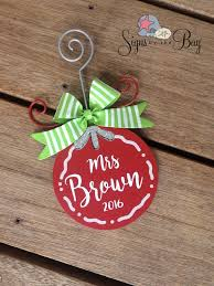 personalized ornaments signs by the bay