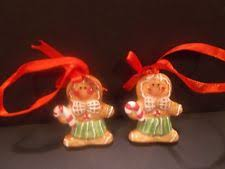 gingerbread ceramic ornaments ebay