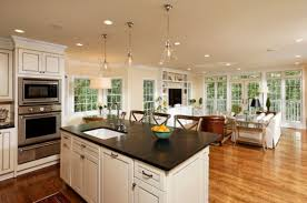 open kitchens with islands open kitchen island farmhouse kitchens country open