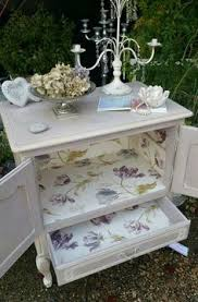 stag dressing table with triple mirror and 6 drawers hand painted
