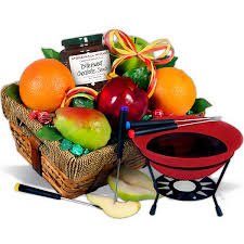 fruit gifts fruit chocolate fondue gift basket great gifts for chocloate