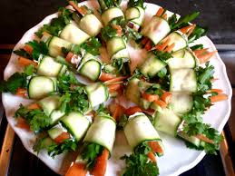 easy vegetarian canapes veggie wrap canapés yes