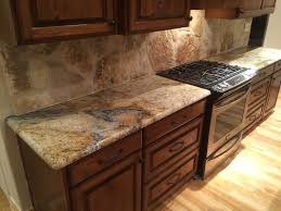 Pictures Of Kitchen Countertops And Backsplashes Sienna Beige Granite Kitchen Countertops Rock Backsplash