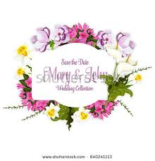 wedding wishes card template wedding greeting card flowers floral bouquet stock vector