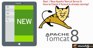 how to start stop apache tomcat via command line check if tomcat