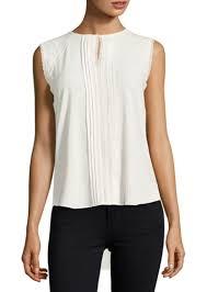 pleated blouse on sale today elie tahari elie tahari norma sleeveless pleated