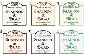 custom printed pre designed wine bottle labels
