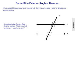 Interior And Exterior Angles Worksheet Table Of Contents Lines Intersecting Parallel U0026 Skew Ppt Download