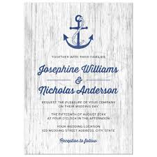 nautical wedding invitations anchor on rustic wood background nautical wedding invitation