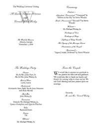 Sample Of Wedding Programs Joy U0027s Blog Not The Cheesy Kind That You Get For Free Through