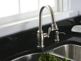 brass brushed nickel faucet kitchen deck mount single handle pull
