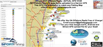 Savannah Ga Map Georgia Artificial Reefs Guide To Coastal Georgia Fishing Spots