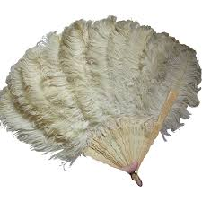feather fan edwardian ostrich feather fan formal attire
