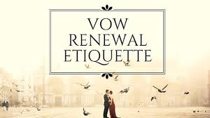 vow renewal ceremony program vow renewal etiquette for years the marriage line