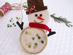 diy felt christmas gift snowman coaster tutorial keçe kardan