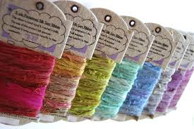 sari silk ribbon upcycled silk ribbon yarn jewelry make bracelets