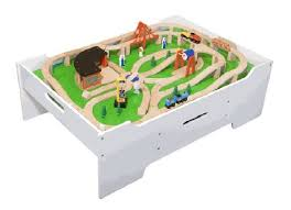 wooden train set table wooden train table toy train center