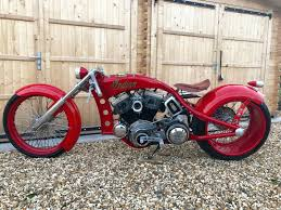 1955 indian board track racer custom bobber chopper showbike
