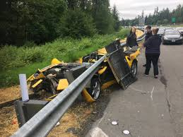 top sliced off phony ferrari during four car crash on i 405 near