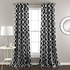 Black And White Draperies Black And White Curtains Target