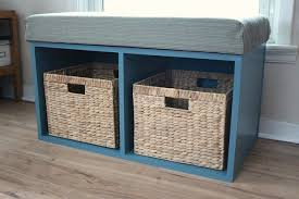 Bench With Baskets 26 Diy Storage Bench Ideas Guide Patterns