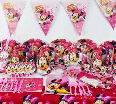 minnie mouse theme party 84pcs kids birthday party decoration set minnie mouse theme party
