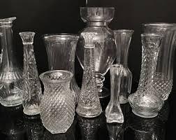Cut Glass Bud Vase Vases Sale Wedding Vases Etsy