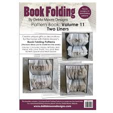 book folding pattern book 11 two liners debbi moore designs