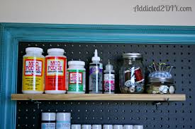 How To Organize Craft Room - craft room wall color ideas cubtab pegboard organization addicted