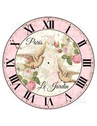 shabby chic clock diy french inspired clock por mabellepapeterie