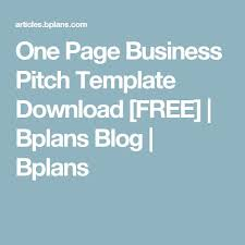 best 25 one page business plan ideas on pinterest simple
