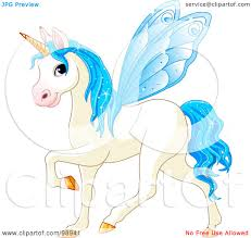royalty free rf clipart illustration of a magical fairy unicorn