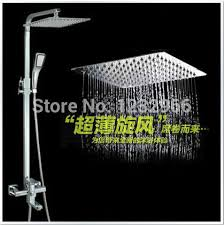 Bathroom Faucet And Shower Sets Rain Shower Bathroom Mixer Shower With Slide Bar Double Head With