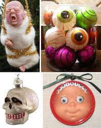 scary ornaments decore