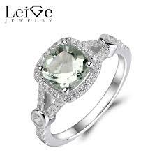 green wedding rings aliexpress buy leige jewelry green amethyst ring