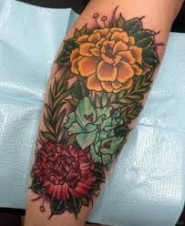 50 phenomenal marigold flower tattoos