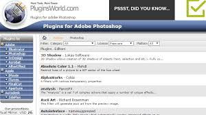com website hundreds of free photoshop filters and plugins