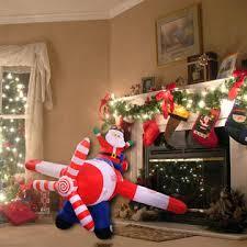 goplus 8 ft airblown santa claus