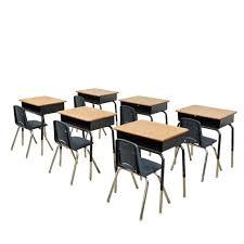 Open Front Desk Ecr4kids Classroom Package 6 Open Front Desks U0026 6 Chairs 12