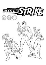 storm strike power rangers coloring pages ready print