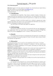 formal lab report template best photos of formal report format formal report format exle
