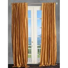 Orange Panel Curtains Orange Silk Curtains U0026 Drapes You U0027ll Love Wayfair