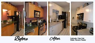 Painted Oak Kitchen Cabinets Resurface Kitchen Cabinets Before And After Tehranway Decoration