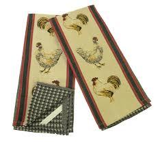 amazon com hens u0026 rooster kitchen towels set 2 home u0026 kitchen